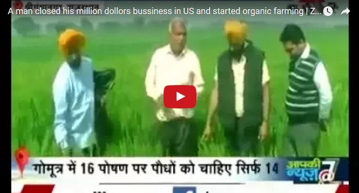 A man closed his bussiness in america and started organic farming in his village