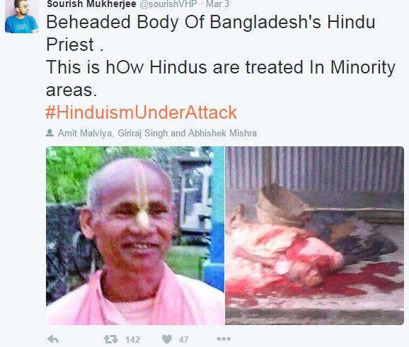 Beheaded Body Of Bangladesh's Hindu Priest