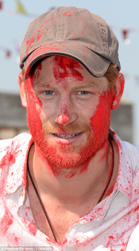 Prince Harry celebrate holi in nepal18