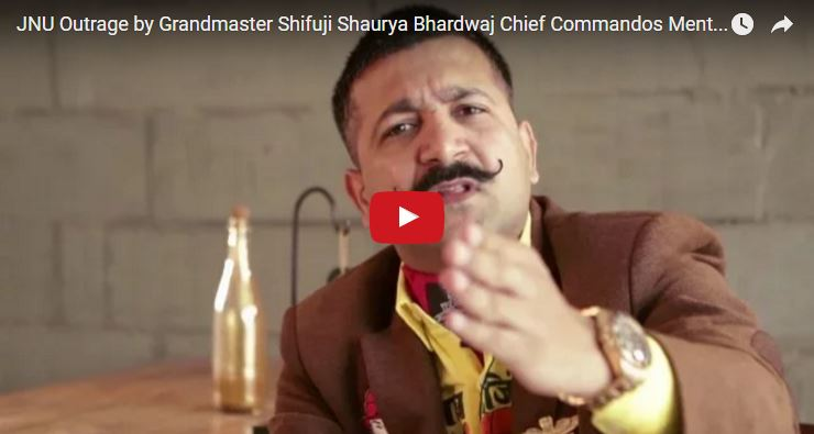 JNU Outrage by Grandmaster Shifuji Shaurya Bhardwaj Chief Commandos Mentor