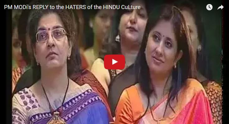pm modi reply to the haters of hindu culture