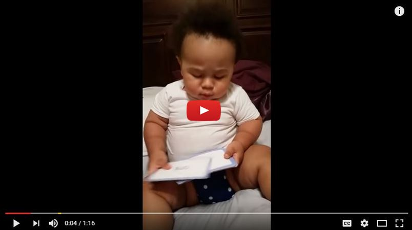 19 month old baby can read