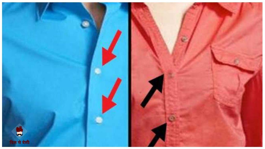 Reason Behind women's shirts button up on Left sides in Hindi
