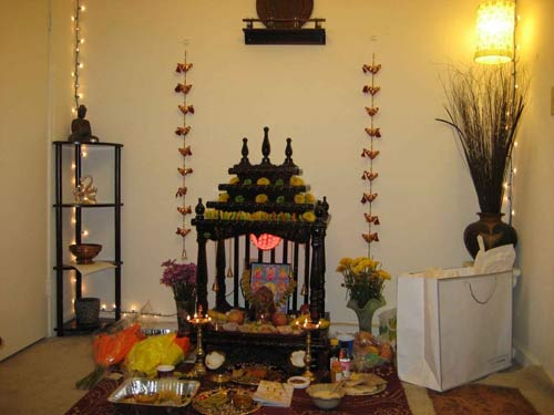 Temple in house