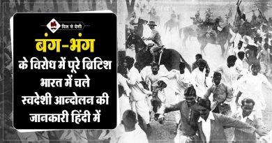 History of Swadeshi Movement in Hindi