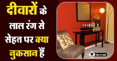 Impact of Red Color Walls in Hindi