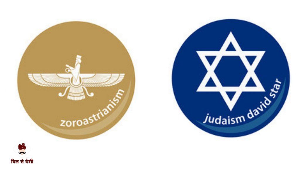 Symbol of Zoroastrianism and Judaism