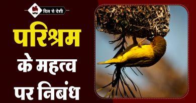 Parishram Ka Mahatva Essay in Hindi