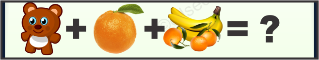 Banana, Orange and Teddy Bear Puzzle Quiz Questions Answer