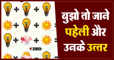 Bulb, Sun and Ice-Cream Puzzle Quiz Questions Answer