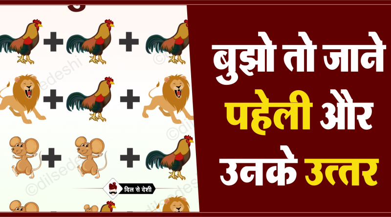 Cock, Lion and Rat Logical Puzzle Quiz Questions Answer