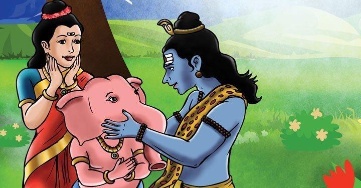 How Ganesha Got his Elephant Head In Hindi