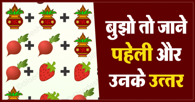 Kalash, Turnip and Strawberry Puzzle Quiz Questions Answer