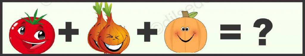 Tomato, pumpkin and Onion Logical Puzzle Quiz Questions Answer (2)