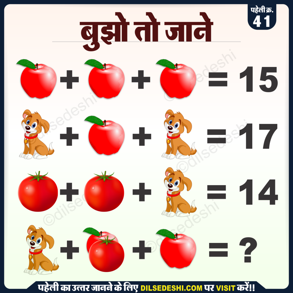 apple-dog-and-tomato-logical-puzzle-quiz-questions-answer