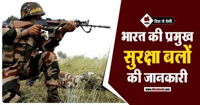 List of Indian Forces in Hindi