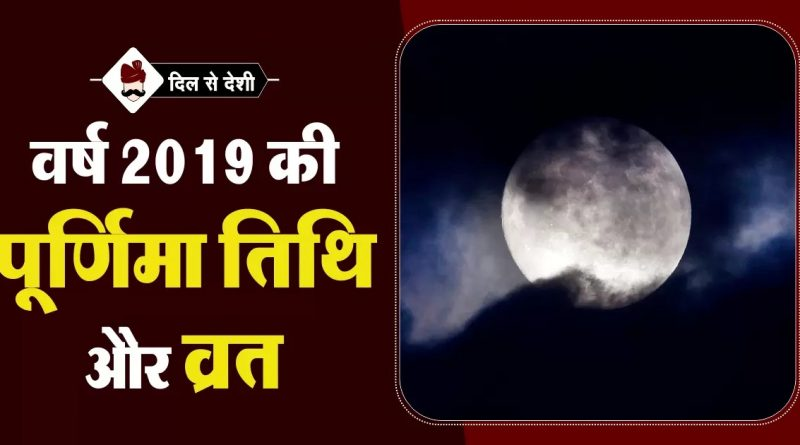 List of all Purnima with date and timings in 2019