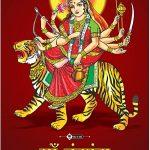 Dil Se Deshi Maa Chandraghanta Navratri Wall Posters for HomeOfficeSchoolStreet - Navratri Mataji Poster