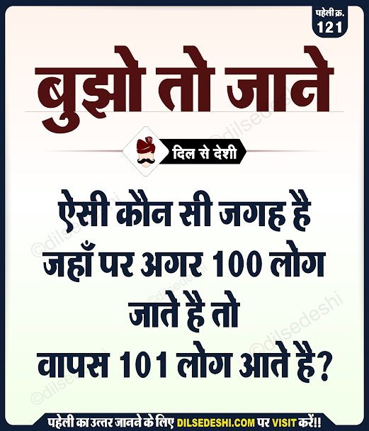 logical and Common Sense Question in Hindi with Answer