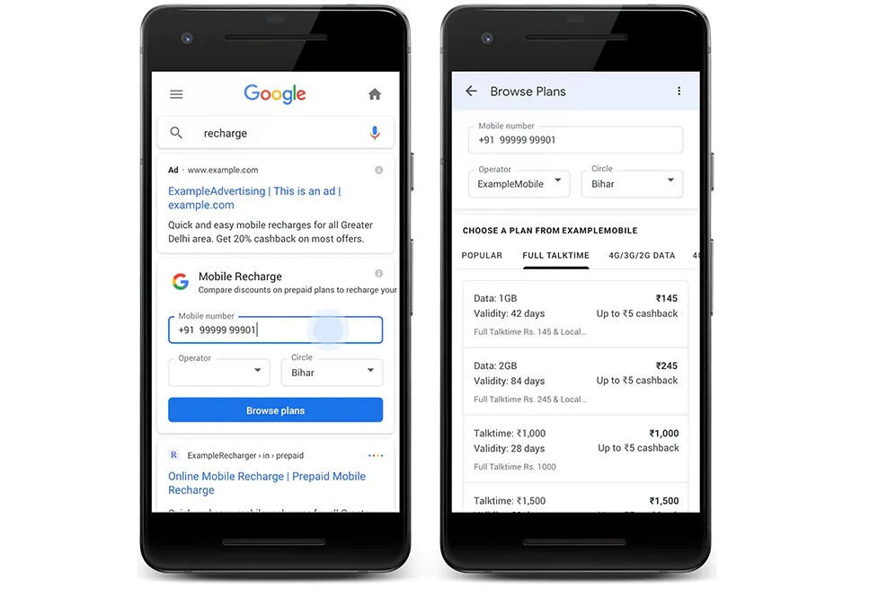 How to do Recharge With Google