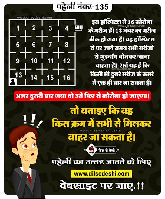 Paheliyan with Answer logical paheliyan in hindi Paheliyan in Hindi