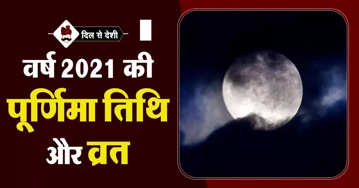 List of all Purnima with date and timings in 2021